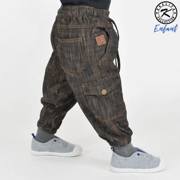 sarouel-battle-jeans-marron-enfant-khalifa-collection-2
