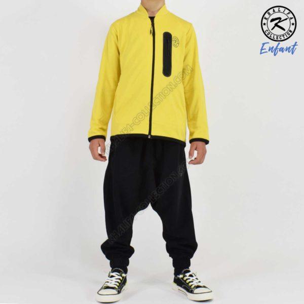 ensemble-enfant-jaune-noir-khalifa-collection